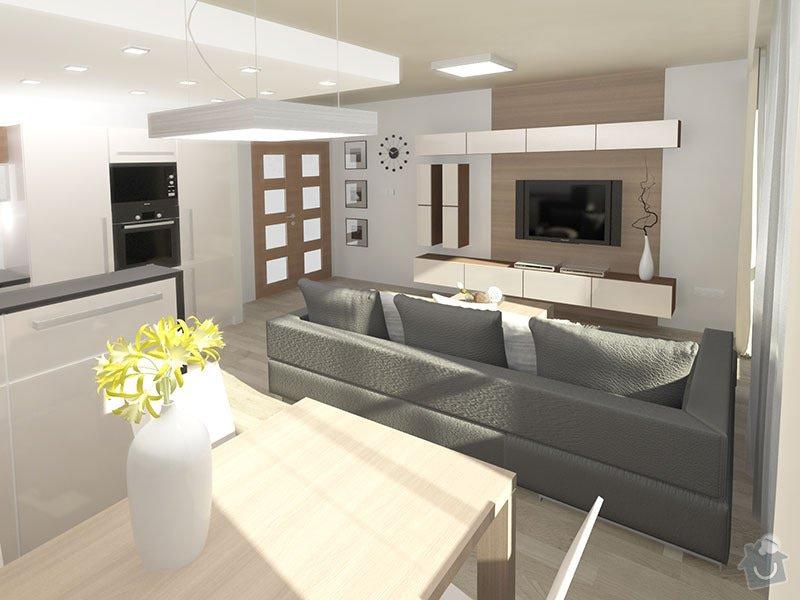 3D návrh kuchyně a obývacího pokoje: 02_pohled_do_obyvakove_casti