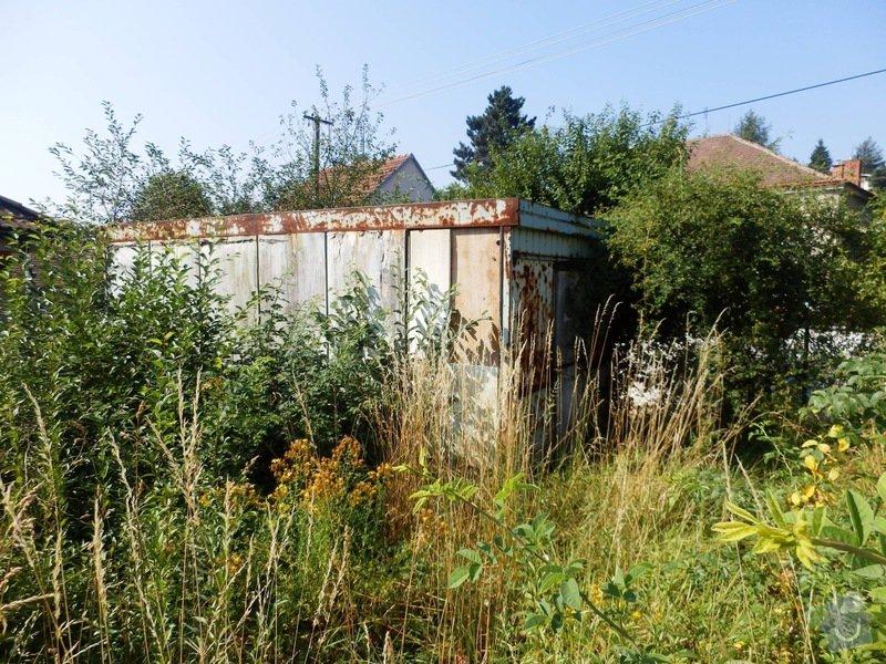 Odstranění a likvidace staré stavební buňky z pozemku : P7270695z