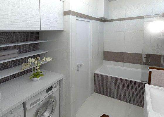 Moderní koupelna v neutrálních barvách