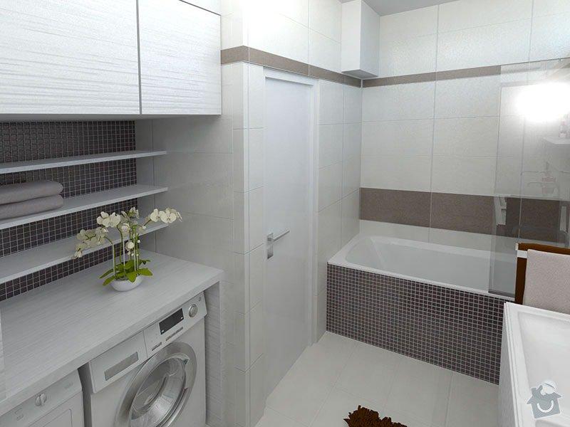 Moderní koupelna v neutrálních barvách: 01_-_koupelna_pohled_na_vanu_a_pracku