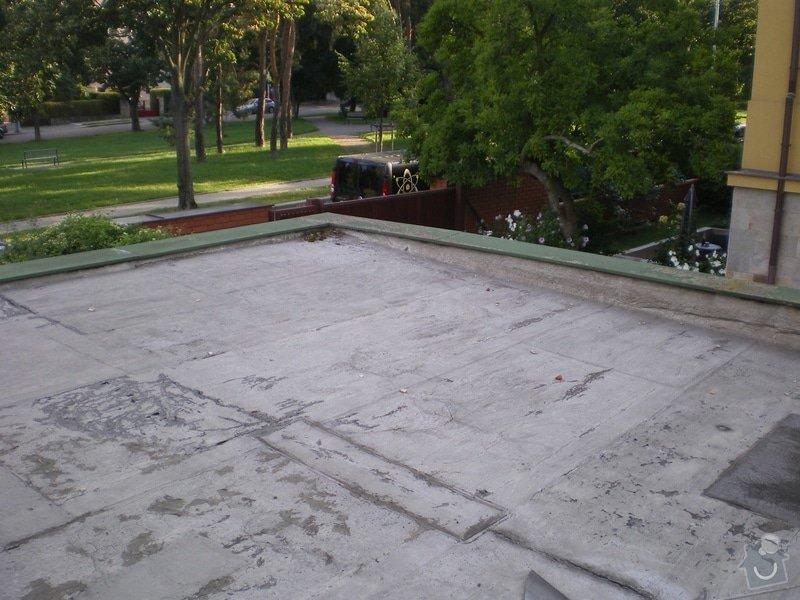 Oprava lepenkové střechy dvougaráže: 003