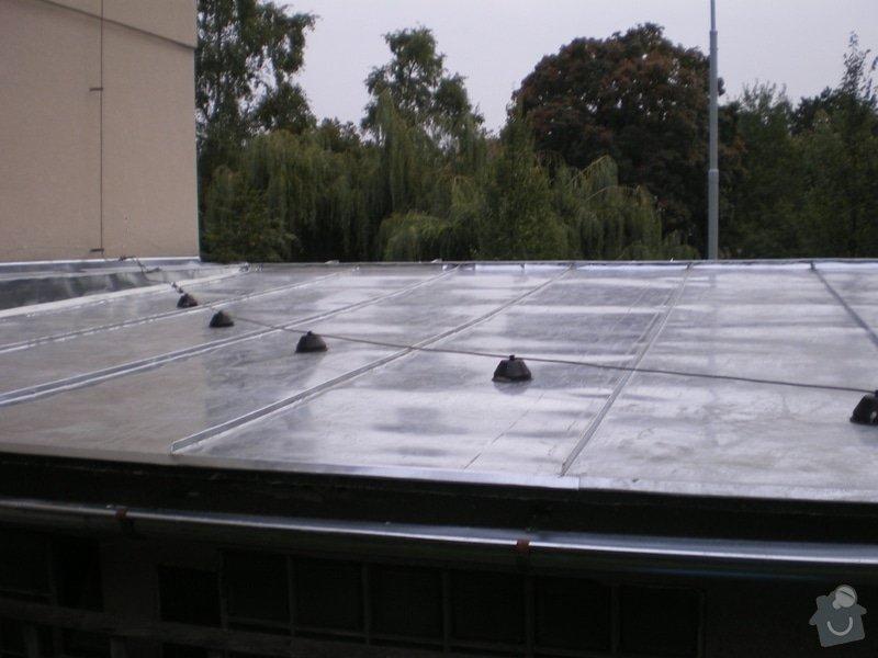 Oprava lepenkové střechy dvougaráže: 004
