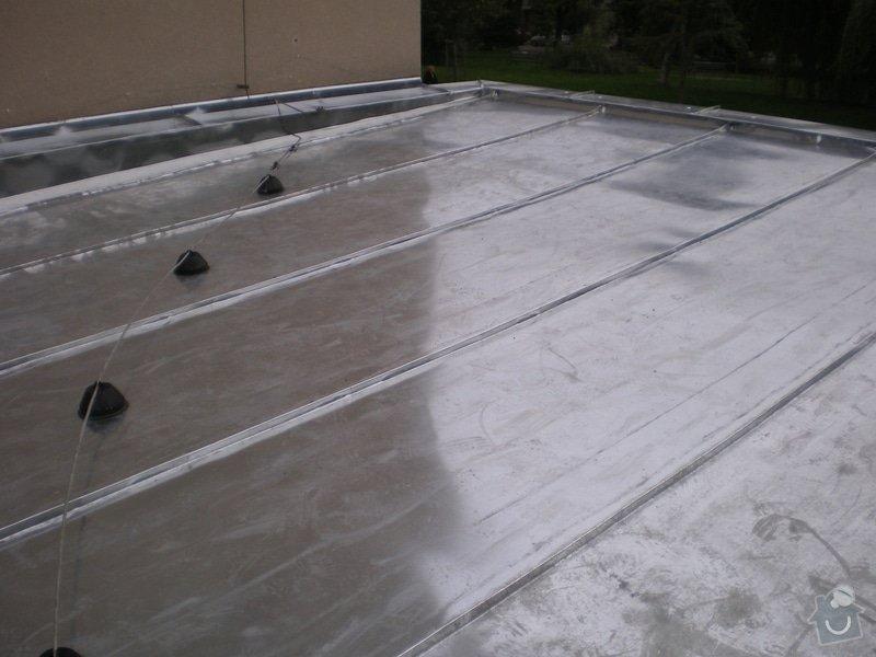 Oprava lepenkové střechy dvougaráže: 006