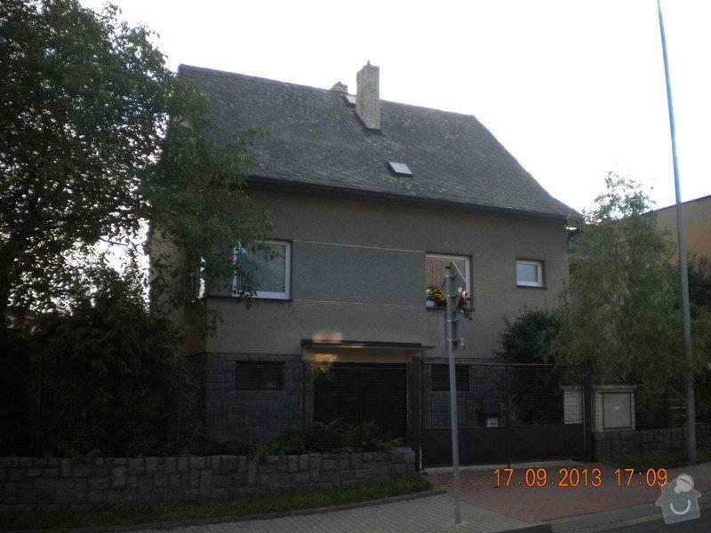 Oprava eternitové střechy, nátěr oplechování: DSCN1538_pohled_z_ulice