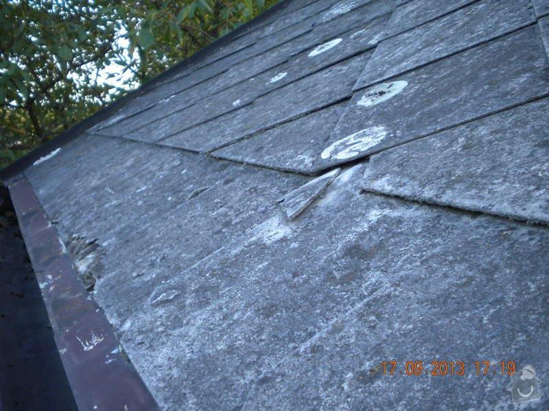 Oprava eternitové střechy, nátěr oplechování: DSCN1539_ulice