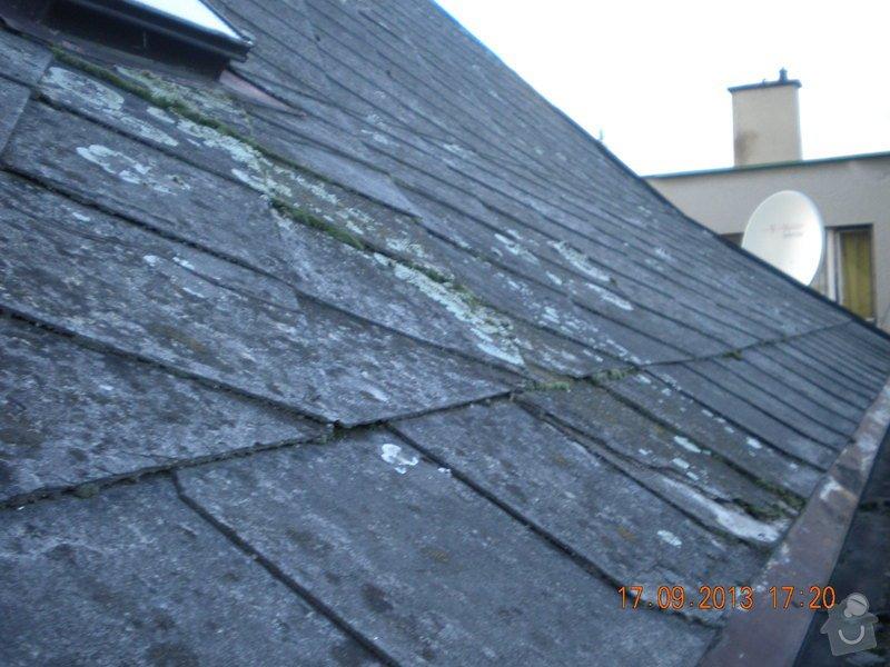 Oprava eternitové střechy, nátěr oplechování: DSCN1540_ulice