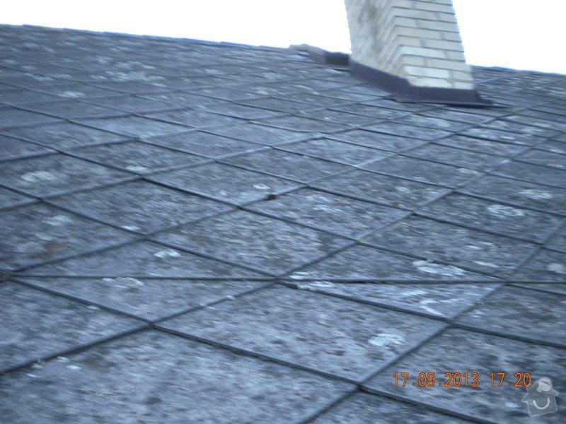 Oprava eternitové střechy, nátěr oplechování: DSCN1542_ulice