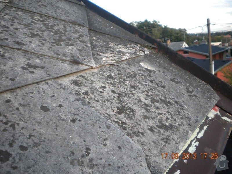 Oprava eternitové střechy, nátěr oplechování: DSCN1550_zahrada