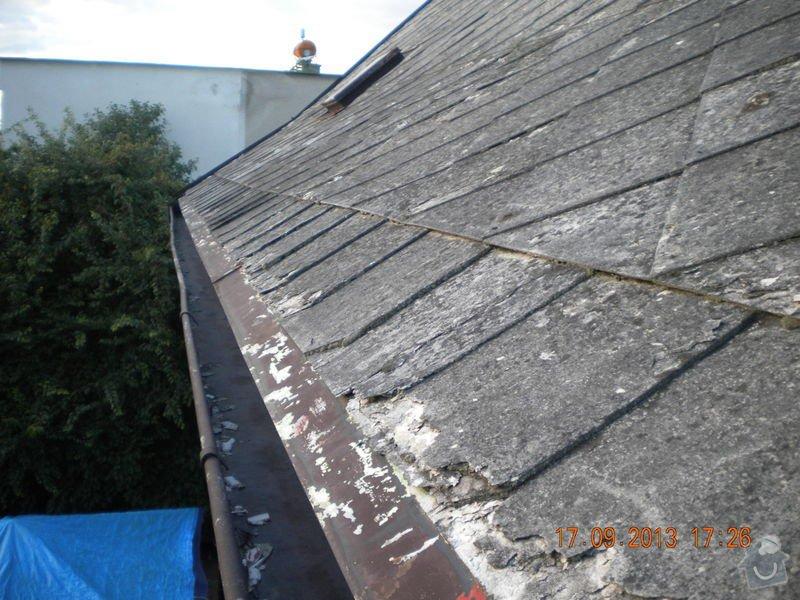Oprava eternitové střechy, nátěr oplechování: DSCN1554_zahrada