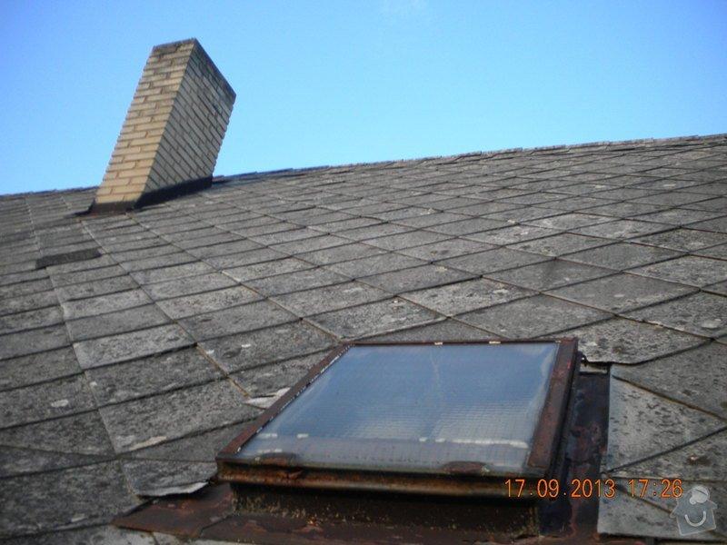 Oprava eternitové střechy, nátěr oplechování: DSCN1556_zahrada