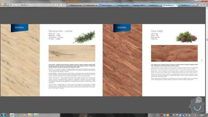 Pokládka nové podlahy včetně izolace a  USB desek pro srovnání, následně PVC : borovice_bila