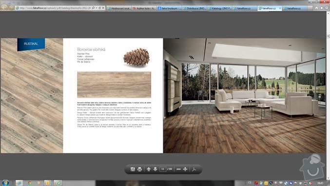 Pokládka nové podlahy včetně izolace a  USB desek pro srovnání, následně PVC : borovice-sibirska