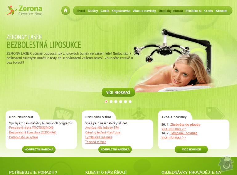 Tvorba www stránek pro centrum péče o tělo: 068-uvodni-stranka-zerona-centrum-brno