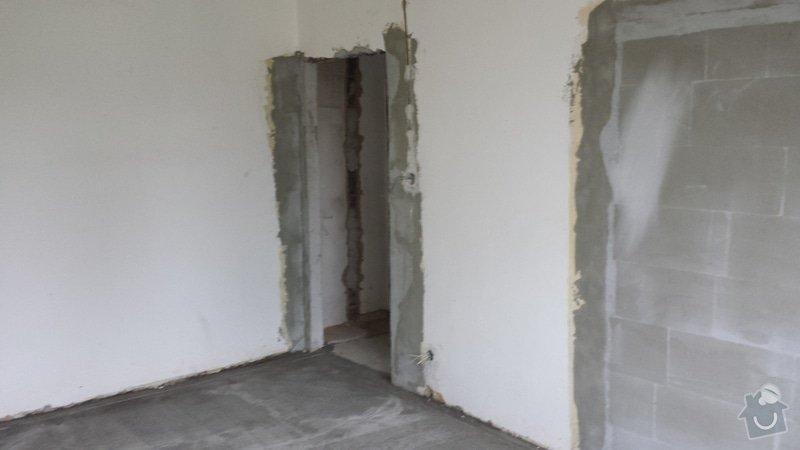 Štukování, zaházení šliců po elektrikářovi, malování bytu: 20130922_162516