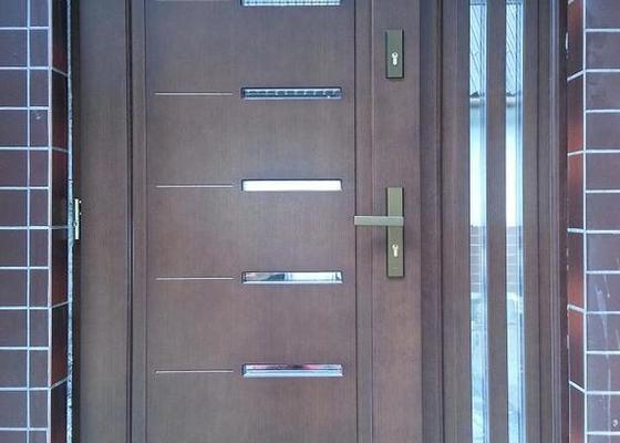 Vchodové dveře dřevěné s bočním světlíkem