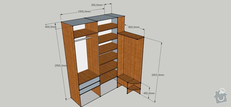 Vestavěné skříně - předsíň + ložnice: Vestavena_skrin