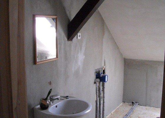 Renovace koupelny v půdním bytě