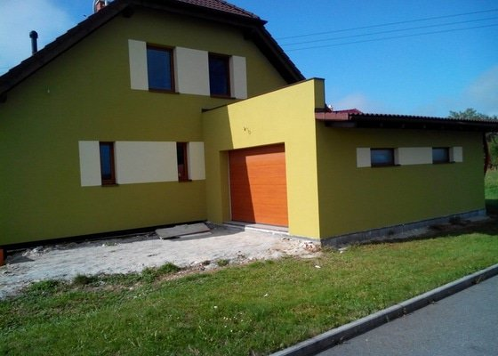 Zhotovení a materiál na fasádu - 230 m2