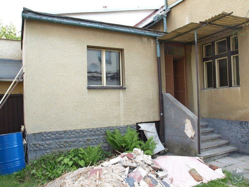 Zateplení ploché střechy cca 28m2 a stěn objektu cca 55m2: P1268223