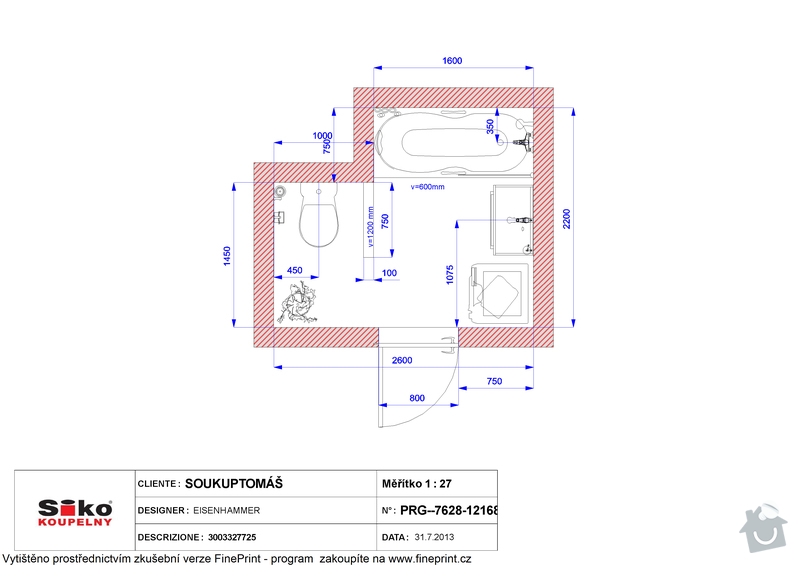 Rekonstrukce koupelny: Plan_-_SOUKUP_TOMAS_3003327725_