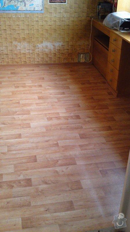 Položení lina místo koberce do jednoho pokoje s vestavěným nábytkem: 27092013415