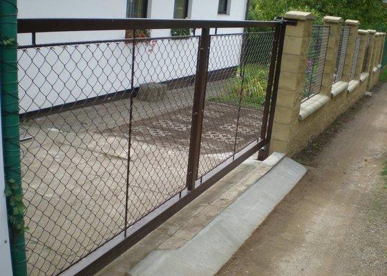 Samonosná brána, branka , 6ks plot.polí.