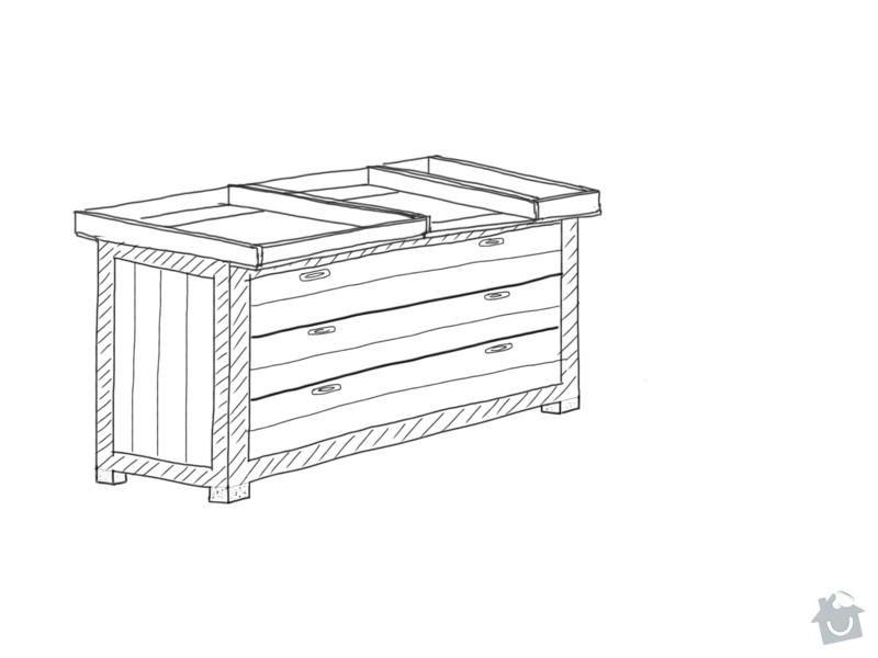 Výroba dřevené přebalovací komody: nakres_1