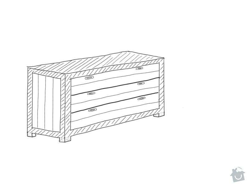 Výroba dřevené přebalovací komody: nakres_2