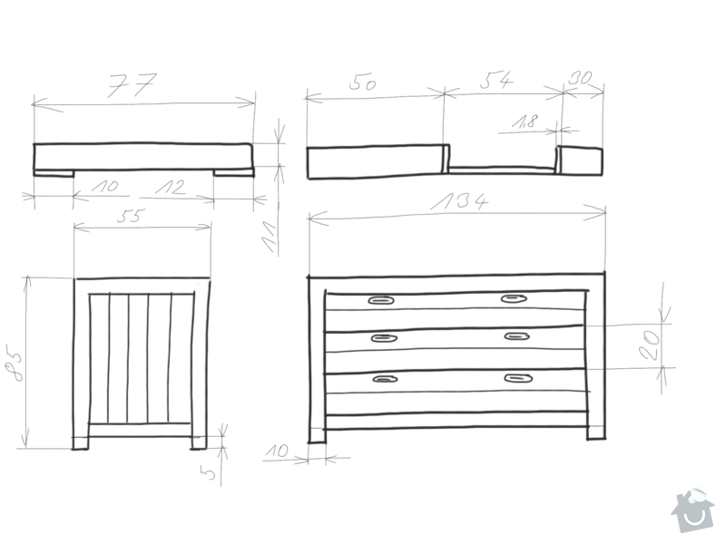Výroba dřevené přebalovací komody: nakres_3