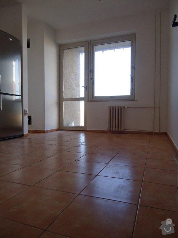 Sundat lino v kuchyni, položit dlažbu 17 m2 vymalovat kuchyň: 01
