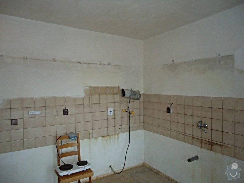 Sundat lino v kuchyni, položit dlažbu 17 m2 vymalovat kuchyň: 02