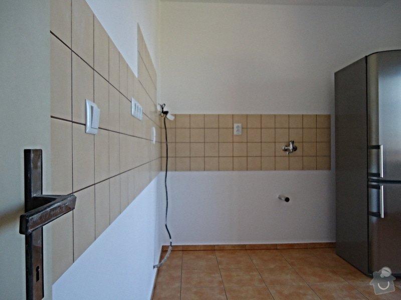 Sundat lino v kuchyni, položit dlažbu 17 m2 vymalovat kuchyň: 03