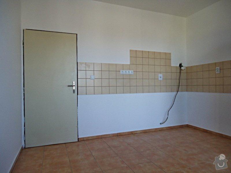 Sundat lino v kuchyni, položit dlažbu 17 m2 vymalovat kuchyň: 05