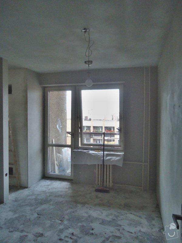 Sundat lino v kuchyni, položit dlažbu 17 m2 vymalovat kuchyň: 16