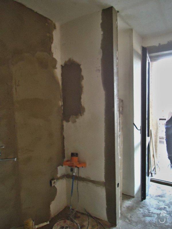 Sundat lino v kuchyni, položit dlažbu 17 m2 vymalovat kuchyň: 18