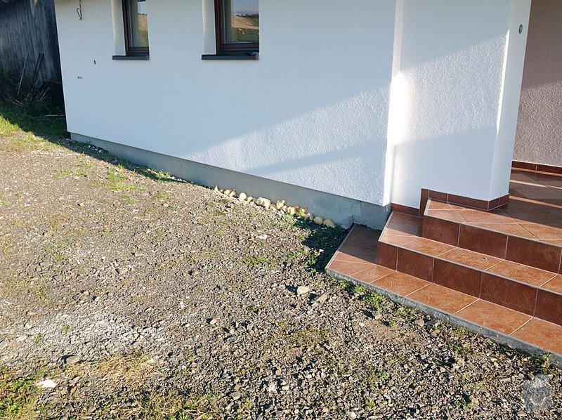 Fasáda - sokl RD, Dlažba - venkovní schody: Sokl_01