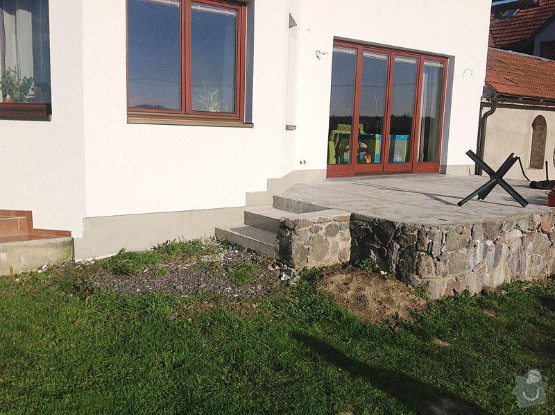 Fasáda - sokl RD, Dlažba - venkovní schody: Sokl_02