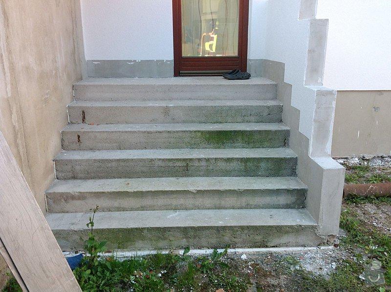 Fasáda - sokl RD, Dlažba - venkovní schody: Schody_01