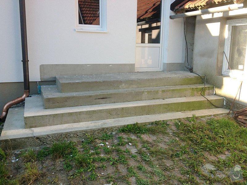 Fasáda - sokl RD, Dlažba - venkovní schody: Schody_02