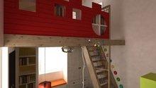 Návrh dětských pokojů v Alpách