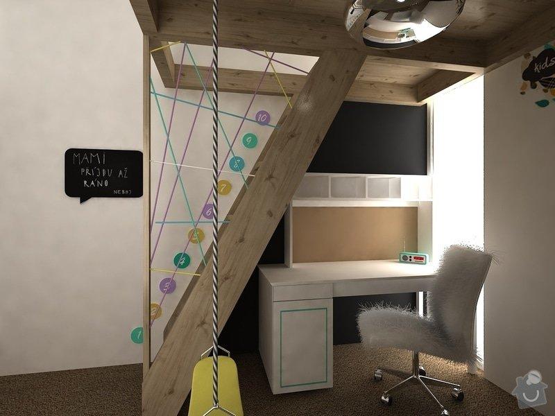 Návrh dětských pokojů v Alpách: SofieDetsky04