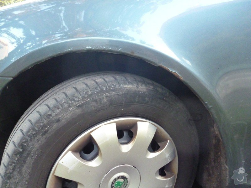 Oprava lemů blatníků Škoda Octavia II: P1020217