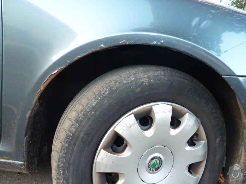 Oprava lemů blatníků Škoda Octavia II: P1020222