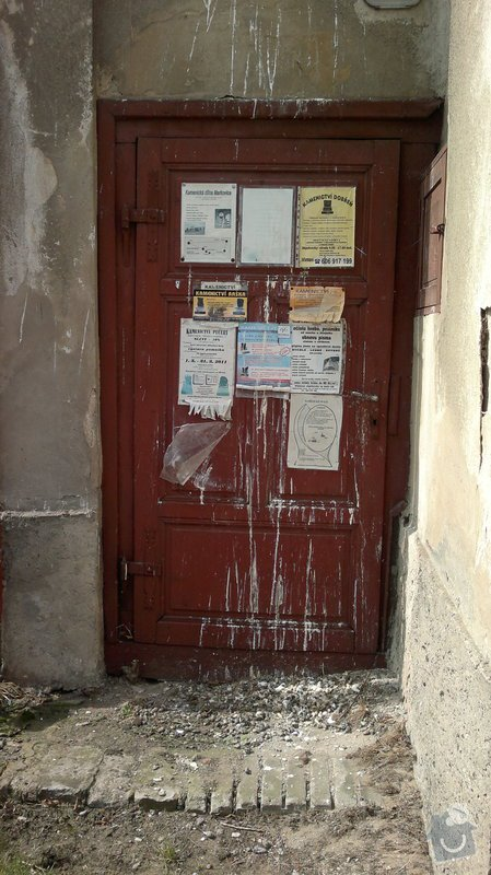Výměna historických oken a dveří  : dvere_pred