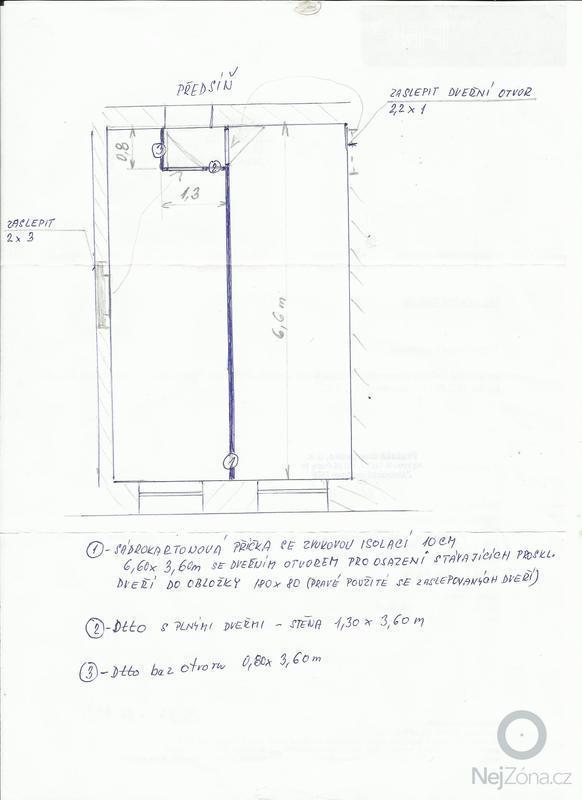 Sádrokartonové příčky - 69 m2: Krak._delici_pricka