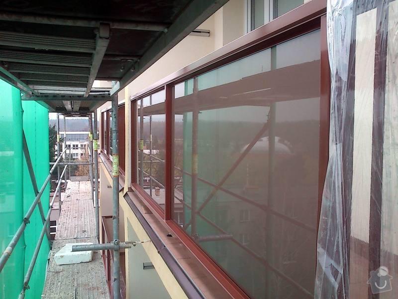 Zateplení fasády, zateplení střechy, výměna oken, hliníkové zábradlí, lodžie, vstupní portál, zasklení lodžií: 7