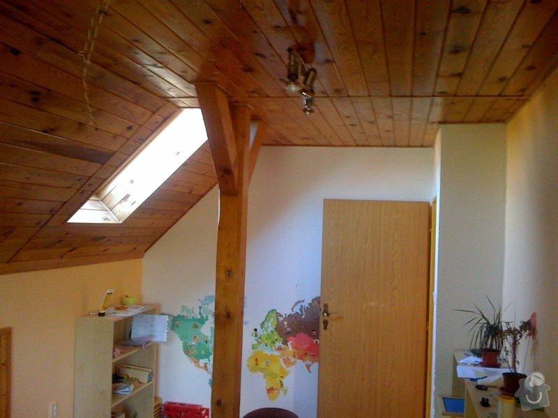 Instalace dvou střešních oken a nové sádrokartonové stropy (2 pokoje): pokoj_pravy_2