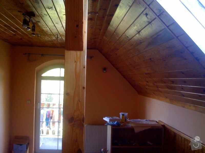 Instalace dvou střešních oken a nové sádrokartonové stropy (2 pokoje): pokoj_pravy
