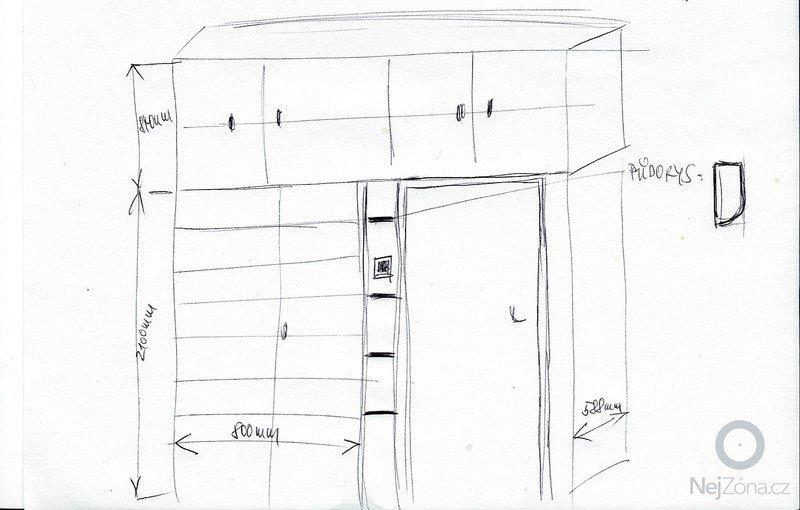 Vestavěná skříň: pokoj_nakres