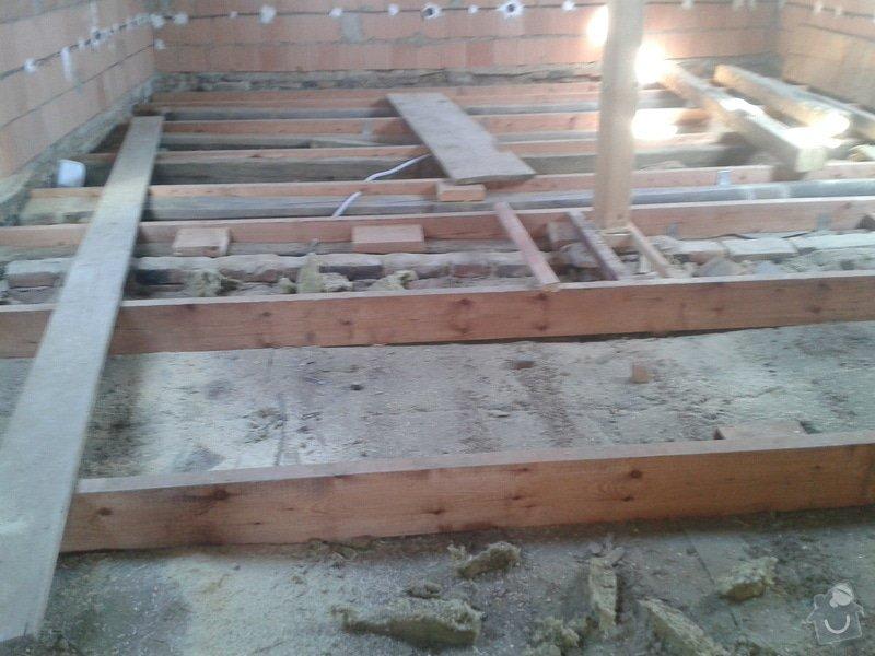 Rekonstrukce rodinného domu - podlaha v obytném podkroví: 2013-10-02_10.25.37